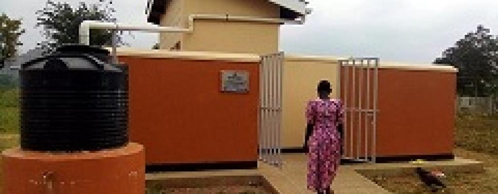 Newly completed staff house at Agule-Omiito Primary School